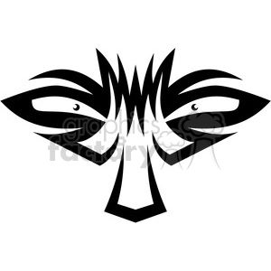 tribal masks vinyl ready art 032 clipart. Commercial use image # 386413