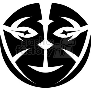 tribal masks vinyl ready art 014 clipart. Commercial use image # 386433