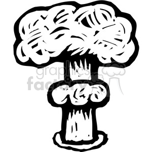 nuclear bomb mushroom cloud explosion clipart. Royalty-free image # 173667