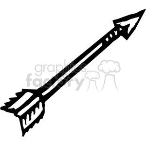 black and white arrow clipart. Commercial use image # 173685