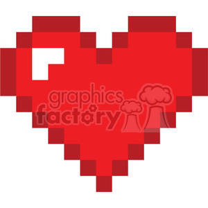 8 bit heart love clipart. Royalty-free image # 386449