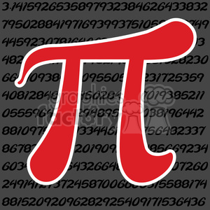 red pi symbol in a square clipart. Commercial use image # 386459