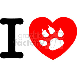 Illustration-I-Love-My-Cat-Text-With-Red-Heart clipart. Commercial use image # 386499