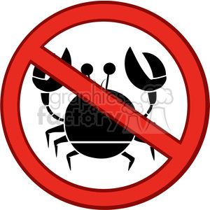 no crab sign clipart. Royalty-free image # 386539