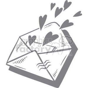 love letter with hearts clipart. Royalty-free image # 386618