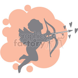 love Valentines hearts cartoon vector cupid