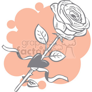 rose with a heart clipart. Commercial use image # 386668