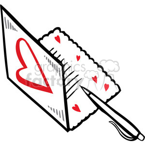 love letter art clipart. Commercial use image # 386698