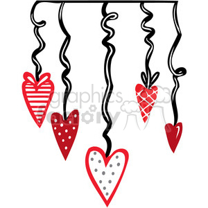 Valentines party decorations clipart. Royalty-free image # 386718