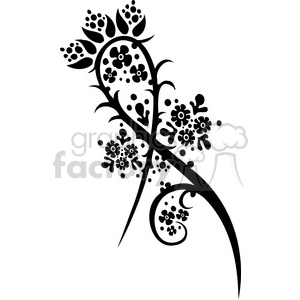 Chinese swirl floral design 030 clipart. Commercial use image # 386736