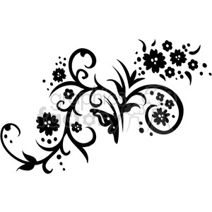 Chinese swirl floral design 003 clipart. Commercial use image # 386746