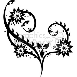 Chinese swirl floral design 027 clipart. Commercial use image # 386756