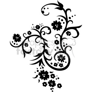 Chinese swirl floral design 058 clipart. Commercial use image # 386766