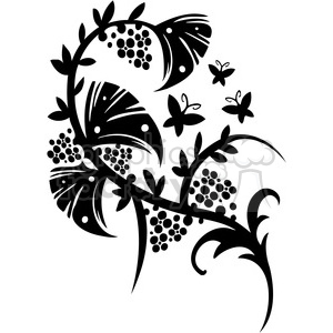 Chinese swirl floral design 065 clipart. Commercial use image # 386786