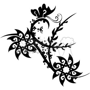 Chinese swirl floral design 025 clipart. Commercial use image # 386806