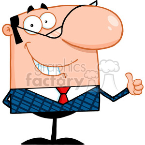Royalty Free Smiling Business Manager Showing Thumbs Up clipart. Royalty-free image # 386926