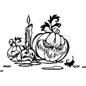 Halloween clipart illustrations 046
