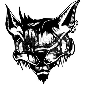 mean looking cat design clipart. Royalty-free image # 387117