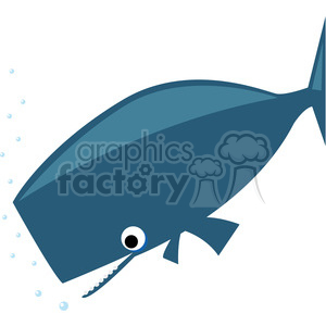sperm whale clip art on white clipart. Royalty-free image # 387157