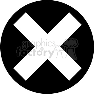 black circle multiplication sign clipart