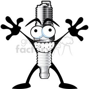 spark plug cartoon character
