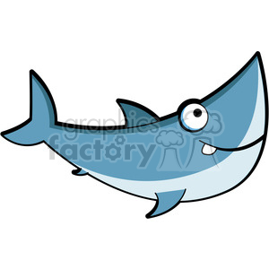 cartoon great white shark clip art