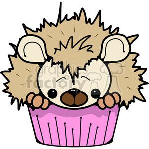 cupcake hedgehog in color