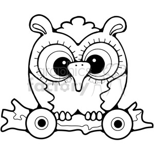 Pull Toy Owl 3 clipart. Commercial use image # 387227