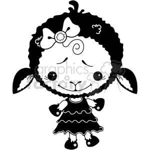 Sheep Black 2 clipart. Royalty-free image # 387277