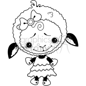 Sheep White 2 clipart. Royalty-free image # 387287