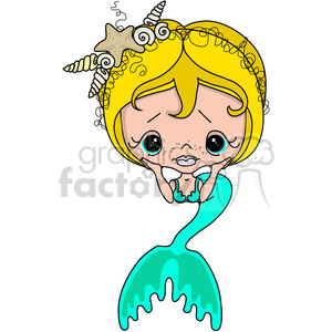 Girl 2 Doll Caucasian Mermaid clipart. Royalty-free image # 387307