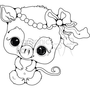 Baby Piglet clipart. Royalty-free image # 387329