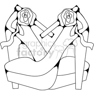Heels 2 Rose clipart. Royalty-free image # 387404