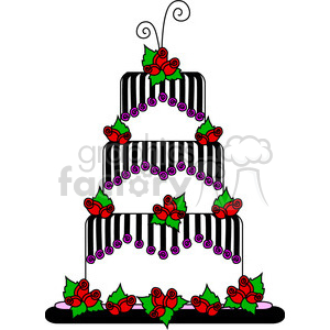 three layer party cake clipart. Commercial use image # 387456