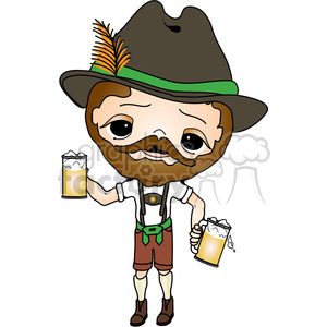 Oktoberfest Guy 1 clipart. Commercial use image # 387660
