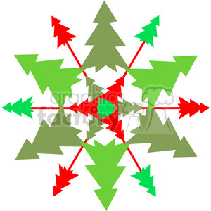 Christmas Tree Snowflake or Wreath clipart. Commercial use image # 387716