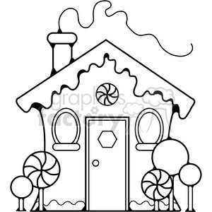 Gingerbread House clipart. Commercial use image # 387754