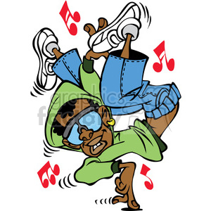 cartoon hip hop dancer character clipart. Royalty-free image # 387813