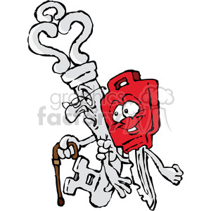cartoon key characters clipart. Commercial use image # 387833