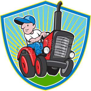 farmer driving a tractor clipart. Royalty-free image # 387877
