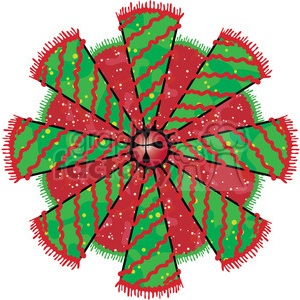 Christmas Tree Cone 06 Wreath clipart clipart. Commercial use image # 387986