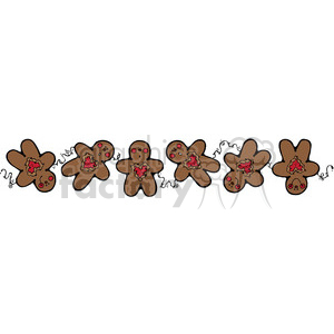 brown Gingerbread Man Border clipart clipart. Royalty-free image # 388023