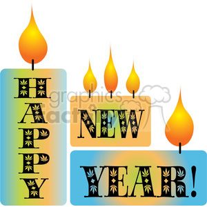 Happy New Years Blocks 03 clipart clipart. Commercial use image # 388049