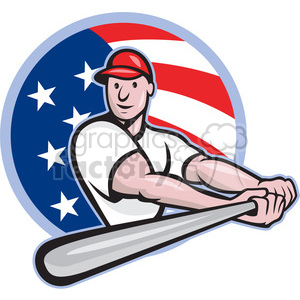 baseball player batting clipart. Royalty-free image # 388102