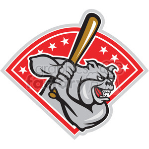 baseball bulldog player batting DIA clipart. Royalty-free image # 388182