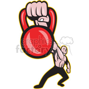 kettle bell hand strong man clipart. Royalty-free image # 388212
