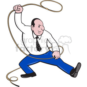 businessman lasso side clipart. Royalty-free image # 388242