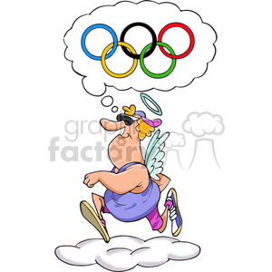 running dreaming of the olympics clipart. Royalty-free image # 388342
