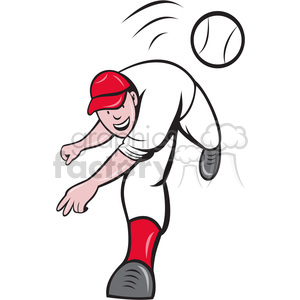 baseball pitcher clipart. Royalty-free image # 388440
