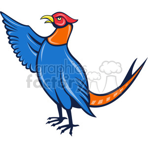 cartoon bird birds pheasant animals